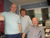 Herb, Bob Brolly and Stan at the BBC studio