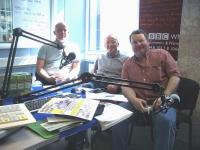 Stan, Herb and Pete Chambers at the BBC studio